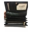 sötétkék mintázott női marhabőr pénztárca