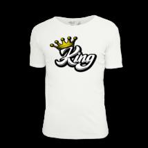 King feliratos férfi póló