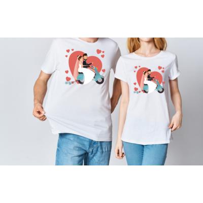 Friss házasok páros póló
