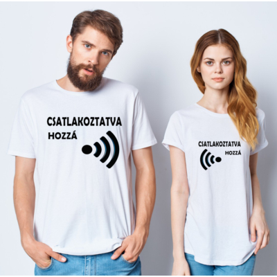 Csatlakoztatva páros póló